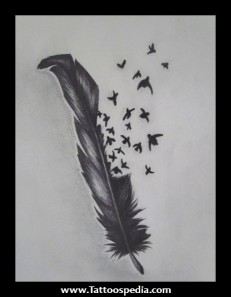 Raven Feather Tattoos Meaning 1